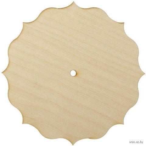 """Заготовка деревянная """"Часы"""" (220 мм; арт. AM777113) — фото, картинка"""