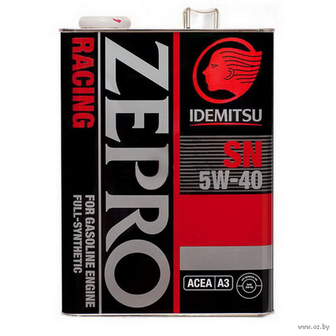 "Масло моторное ""Zepro Racing SN"" 5W-40 (4 л) — фото, картинка"