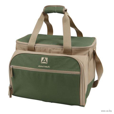 Набор для пикника на 6 персон (зелёный) — фото, картинка