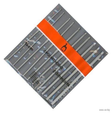 Набор крючков для вязания (металл; 10 шт.; 13 см) — фото, картинка