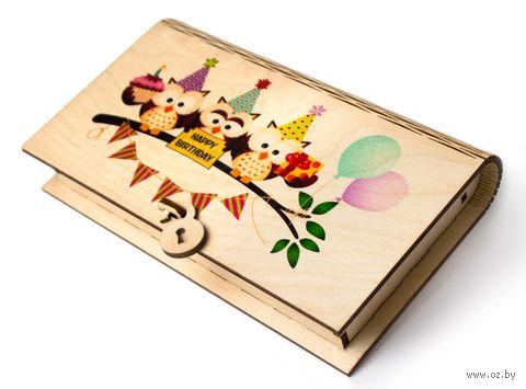 """Подарочная коробка """"Совы"""" (арт. КД-3) — фото, картинка"""