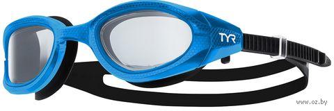 Очки для плавания (чёрно-голубые; арт. LGSPL3NM/422) — фото, картинка