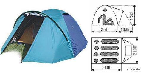 "Палатка ""Юрта-4-1"" (серо-оранжевая) — фото, картинка"