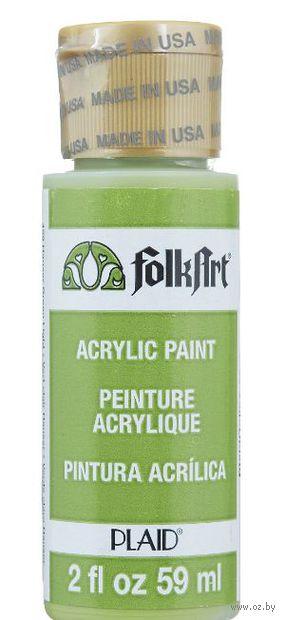 "Краска акриловая ""FolkArt. Acrylic Paint"" (зеленый свет; 59 мл; арт. PLD-00459) — фото, картинка"