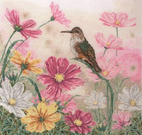 """Вышивка крестом """"Птица в цветах"""""""