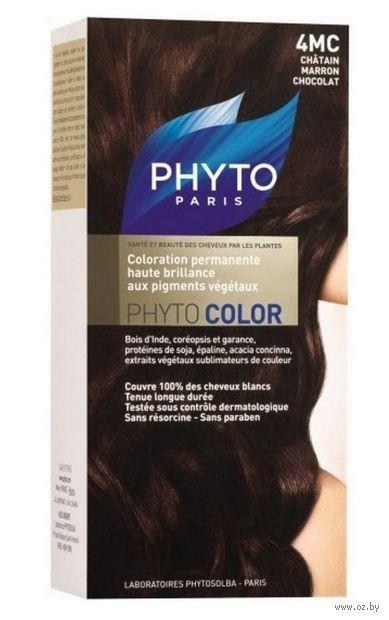 "Краска для волос ""Phytocolor"" (тон: 4MC, шатен каштан шоколад)"