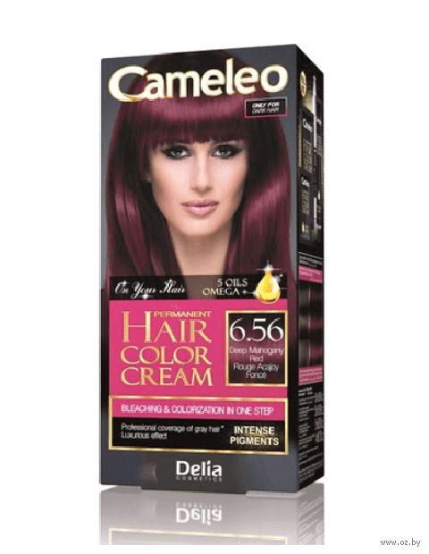 """Крем-краска для волос """"Cameleo"""" (тон: 6.56, глубокий красный махагон) — фото, картинка"""