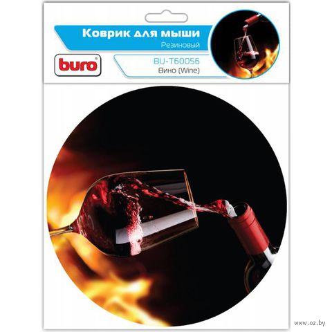 Коврик для мыши Buro BU-T60056 (рисунок/вино) — фото, картинка
