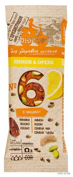 "Батончик ""Bionova. Лимон и орехи"" (35 г) — фото, картинка"