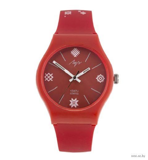 """Часы наручные """"Вышиванка"""" (красные; арт. 729345349) — фото, картинка"""