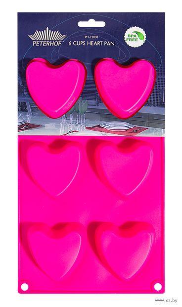 """Форма силиконовая для выпекания кексов """"Сердце"""" (287x170x24 мм) — фото, картинка"""