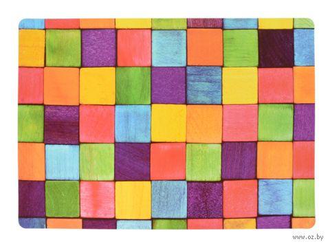 "Подставка сервировочная ""Кубики"" (420x280 мм) — фото, картинка"