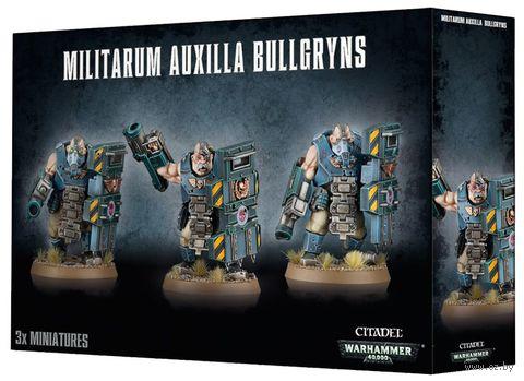 Warhammer 40.000. Militarum Auxilla. Bullgryns (47-14) — фото, картинка
