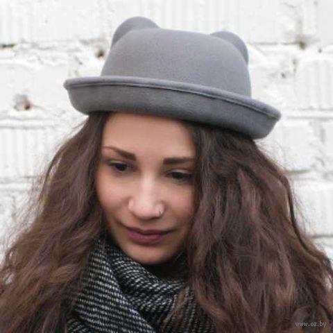 """Шляпа """"Ушки"""" (светло-серая) — фото, картинка"""