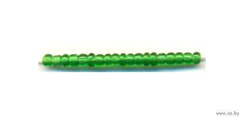 Бисер прозрачный №7B (зеленый; 6/0)