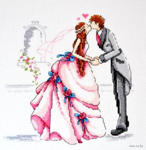 "Вышивка крестом ""Свадьба"" (200x200 мм) — фото, картинка"
