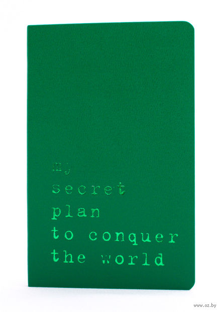 """Записная книжка Молескин """"Volant. My Secret Plan"""" нелинованная (карманная; мягкая светло-зеленая обложка)"""