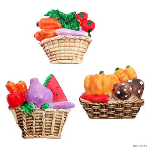 """Магнит """"Овощи и фрукты в корзинке"""" — фото, картинка"""
