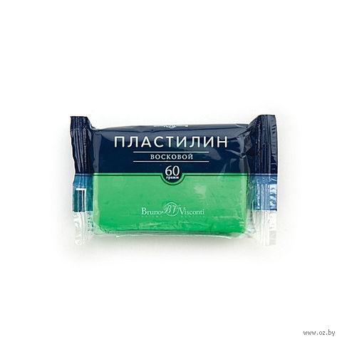 Пластилин восковой (60 г; зеленый неоновый) — фото, картинка