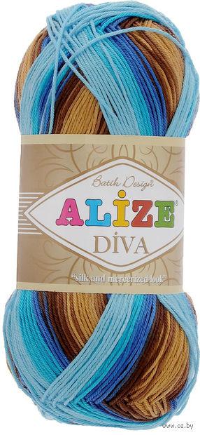 "Пряжа ""ALIZE. Diva Batik Design №3243"" (100 г; 350 м) — фото, картинка"