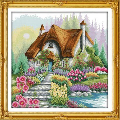 """Алмазная вышивка-мозаика """"Сказочный домик"""" (530х530 мм) — фото, картинка"""