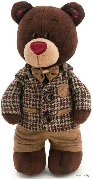 """Мягкая игрушка """"Медведь Choco в клетчатом пиджаке"""" (30 см) — фото, картинка"""