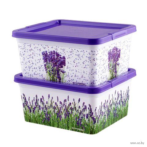 "Ящик для хранения с крышкой ""Лаванда"" (1,9 л) — фото, картинка"