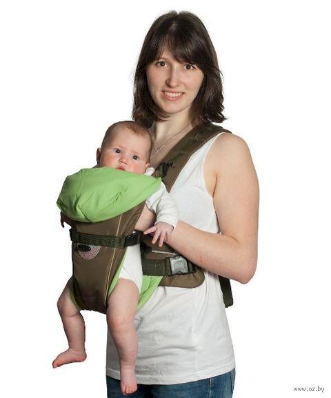 "Рюкзак-кенгуру ""BabyActive Simple"" (хаки) — фото, картинка"
