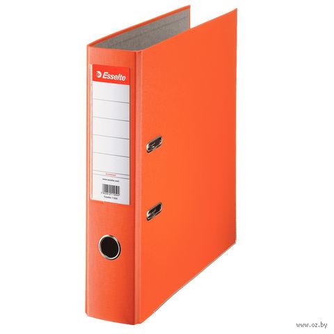 Папка-регистратор А4 с арочным механизмом 75 мм (ПВХ ЭКО, оранжевая)