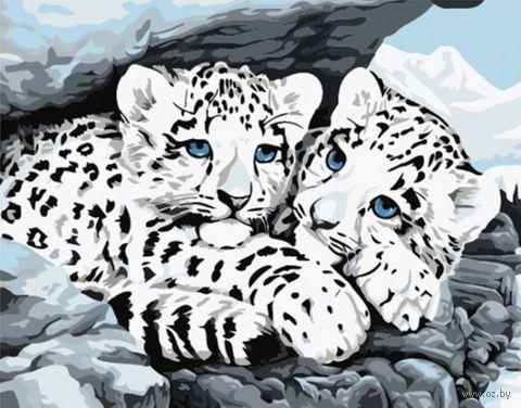 """Картина по номерам """"Снежные леопарды"""" (300х400 мм)"""