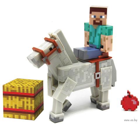 "Фигурка ""Minecraft Steve & Horse - Майнкрафт Стив и Лошадь"" (8 см)"