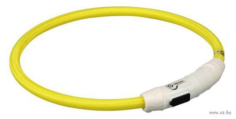 Ошейник светящийся для животных (размер M-L; 45 см; желтый)