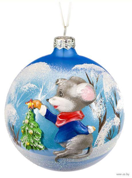 """Шар ёлочный """"Рождественское чудо"""" (арт. ШБ100-30) — фото, картинка"""