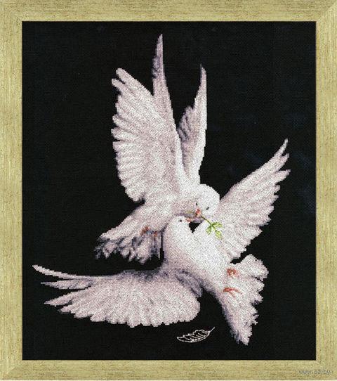 "Вышивка крестом ""Моя голубка"" (400х320 мм) — фото, картинка"