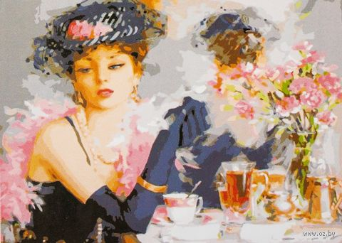 "Картина по номерам ""За чашкой чая"" (400x500 мм; арт. MG275)"