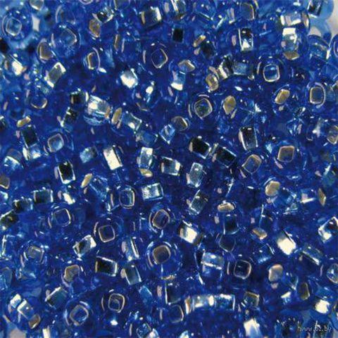 Бисер прозрачный с серебристым центром №37030 (светло-голубой; 10/0)