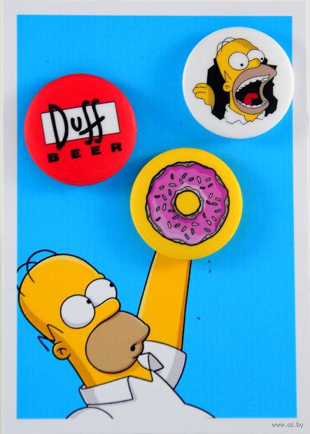 """Набор значков маленьких """"Симпсоны"""" (арт. 048) — фото, картинка"""