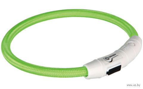 Ошейник светящийся для животных (размер M-L, 45 см, зеленый)