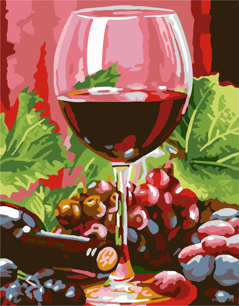 "Картина по номерам ""Красное вино"" (300х400 мм; арт. PC3040056) — фото, картинка"