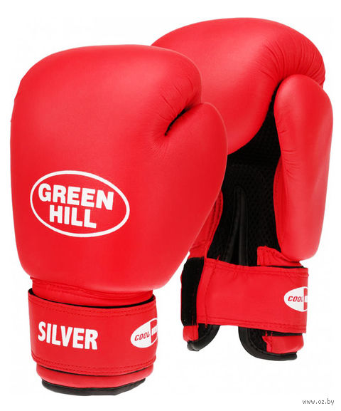 "Перчатки боксёрские ""Silver"" BGS-2039 (14 унций; красные) — фото, картинка"