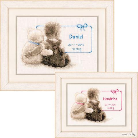 """Вышивка крестом """"Мой любимый плюшевый мишка"""" (260х180 мм) — фото, картинка"""