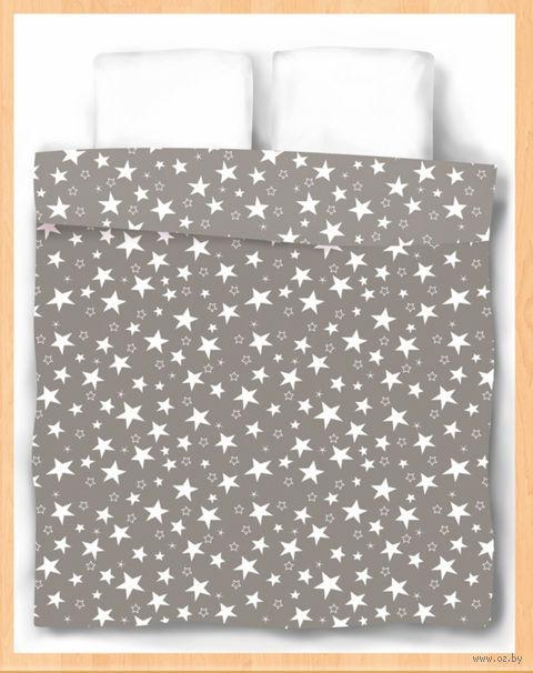 """Пододеяльник хлопковый """"Stars Grey"""" (215х175 см) — фото, картинка"""