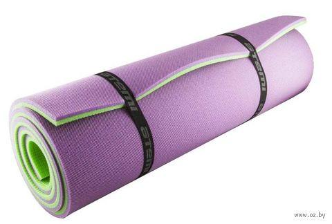 Коврик туристический (180х60х1.2 см; зеленый/фиолетовый) — фото, картинка