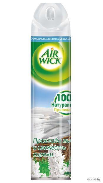 """Освежитель воздуха Air Wick """"Прохлада льна и свежесть сирени"""" (240 мл)"""
