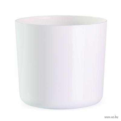"""Цветочный горшок """"Alegra"""" (14 см; белый) — фото, картинка"""