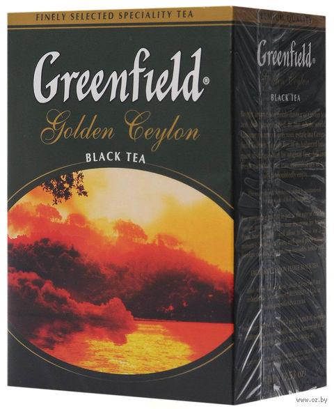 """Чай черный листовой """"Greenfield. Golden Ceylon"""" (100 г) — фото, картинка"""
