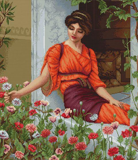 """Вышивка крестом """"Летние цветы"""" (355х400 мм) — фото, картинка"""