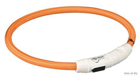 Ошейник светящийся для животных (размер L-XL, 65 см, оранжевый)