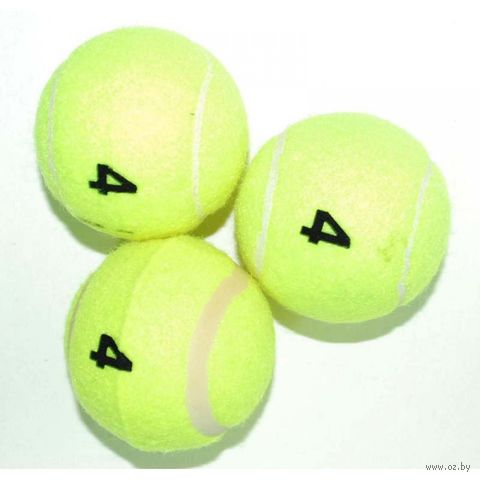 Мяч для большого тенниса (3 шт.; 4 сорт; арт. TO304) — фото, картинка
