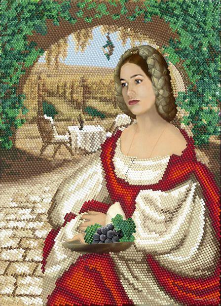 """Алмазная вышивка-мозаика """"Барышня с виноградом"""" (360х260 мм) — фото, картинка"""